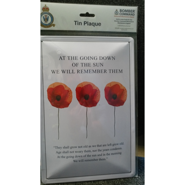 We Will Remember Them Tin Wall Plaque 30cm x 20cm