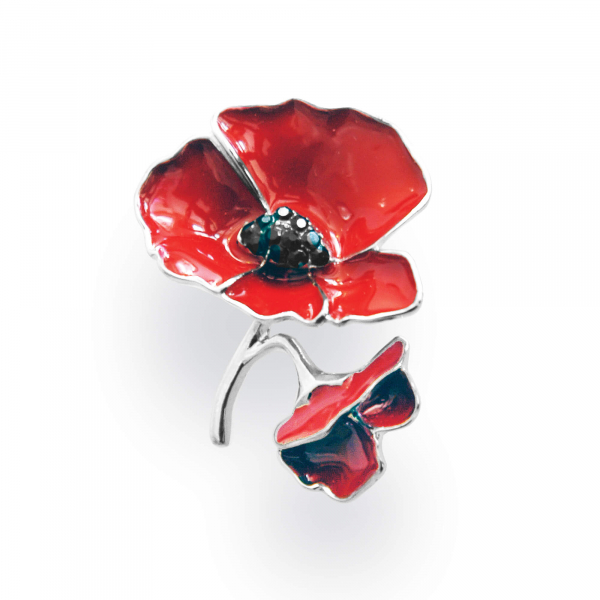 Two Poppy Brooch