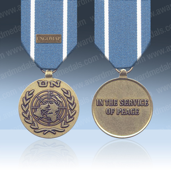 UN Afghanistan UNTSO Medal & UNGOMAP Clasp