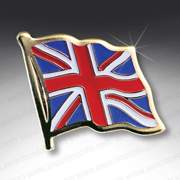 Union Jack Flag Lapel Pin