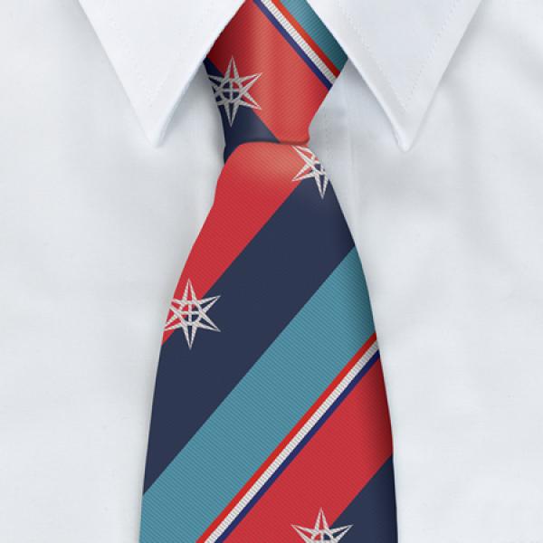Veterans Star Motif Tie