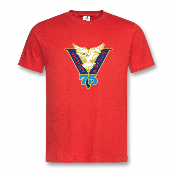 VICTORY & PEACE 75 RED T-SHIRT