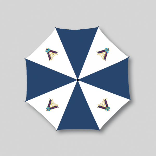 Navy/White Victory & Peace 75 Umbrella