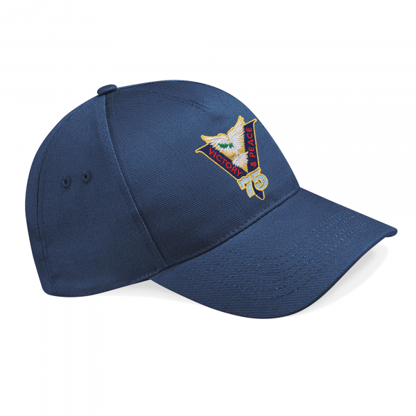 Victory & Peace 75 Baseball Hat Navy Blue