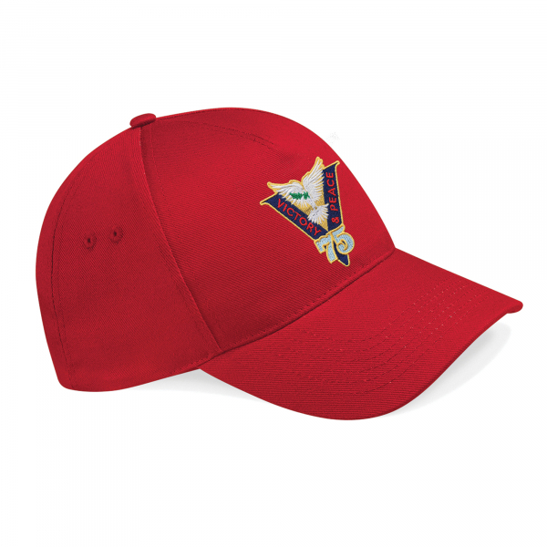 Victory & Peace 75 Baseball Hat Classic Red