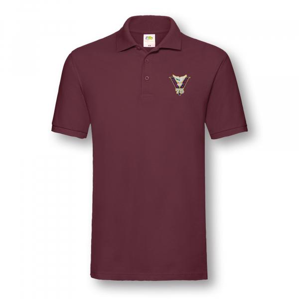 Victory & Peace 75 Burgundy Poloshirt