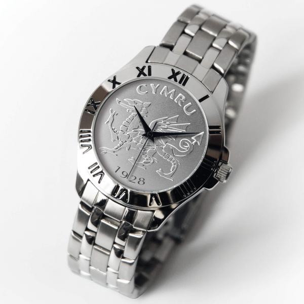 Welsh Patriot Watch Silver Bracelet