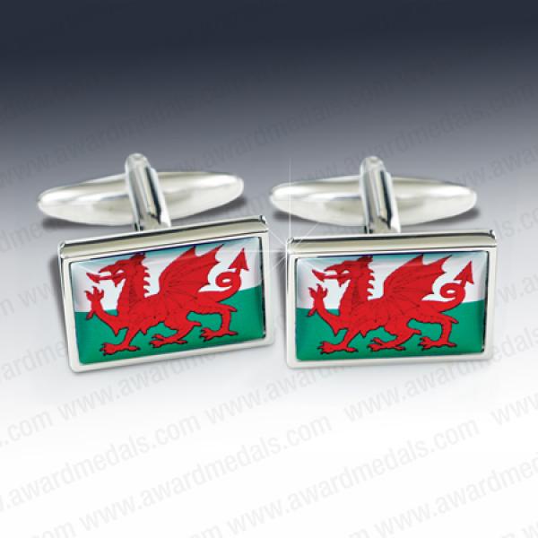 Welsh Flag Cufflinks