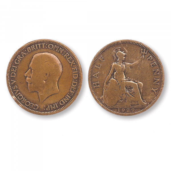 George V Half Penny Coin