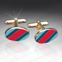 Normandy Enamelled Cufflinks
