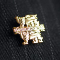 Normandy Gold Lions Lapel Pin
