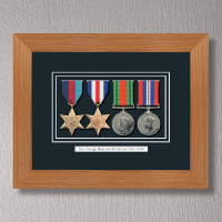 Light Oak Medal Frame for 4 Medals