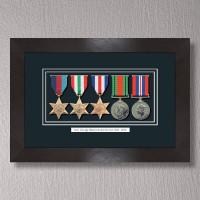 Black Stain Medal Frame for 5 Medals
