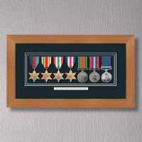 Light Oak Medal Frame for 7 Medals