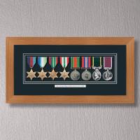 Light Oak Medal Frame for 8 Medals