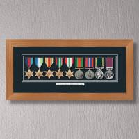 Light Oak Medal Frame for 9 Medals