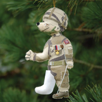 Army Bear Christmas Decoration