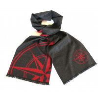Red and Grey Compass Scarf
