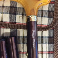 Brown Folding Stick & Carrying Wallet