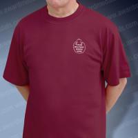 Burgundy Military T-Shirt