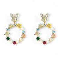 Floral Circle Earrings