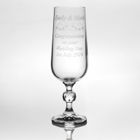 Claudia Glass Champagne Flute