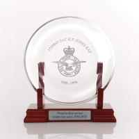 Personalised Crystal Award Plate