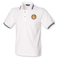 Double Tipped Polo Shirt White/Navy