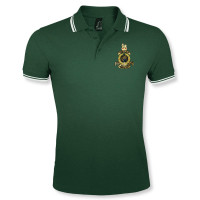 Double Tipped Polo Shirt Green/White