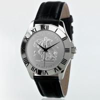 England Black Leather Patriot Watch