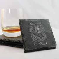 Set of 4 Personalised Slate Coasters