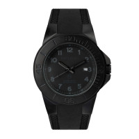 The Tough Watch, Blackout Dial, Case & Bezel, Silicon Strap