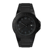 The Tough Watch, Blackout Dial, Case & Bezel, Black Stainless Bracelet