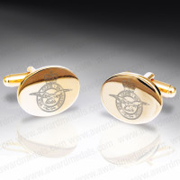 Gilt Plated Military Cufflinks