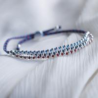 Help for Heroes Beaded Three Strand Bracelet