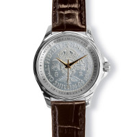 Lifestyle Coinwatch With Florin, Silver Case And Tan Leather Strap