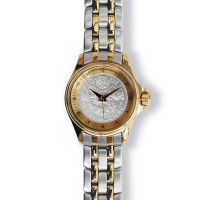 Lifestyle Coinwatch with Sixpence, Gold Case, 2-tone Bracelet