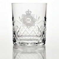 Military Panel Detail Glass Tumbler