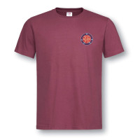 NORMANDY 75 BURGUNDY T-SHIRT