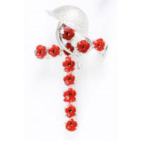 Poppy Cross With Tommy Helmet Brooch