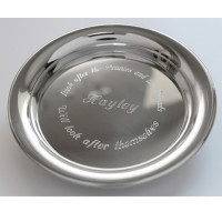 Pewter Personalised Change Tray