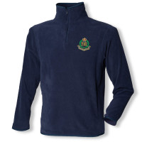 Navy Blue Zip Neck Fleece