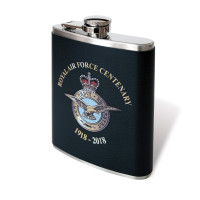 Personalised Black Leatherette Hip Flask