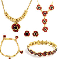 Complete Poppy Jewellery Collection with Gold Finish