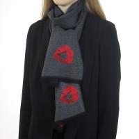 Poppy Grey & Red Scarf