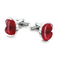Shrieking Violet Poppy Cufflinks