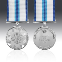 The Commemorative Queens Sapphire Jubilee Medal