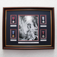 Queens Coronation Frame With Official Medals