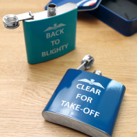 """RAF """"Clear For Take Off"""" Hip Flask"""
