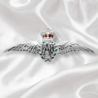 RAF Wings Sterling Silver Sweetheart Brooch